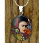 Frida Kahlo with Headscarf Silver Pendant