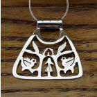 Triangular Tree of Life Silver Pendant