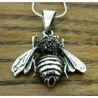 Oxidised Silver Bee Pendant