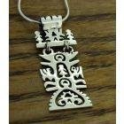 Rectangular Handmade Tree of Life Silver Pendant