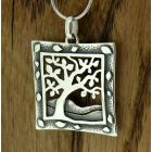 Framed Tree Silver Pendant (268)