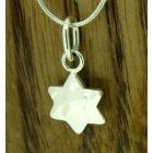 Hammered Star Silver Pendant