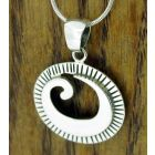 Conch Shell Silver Pendant
