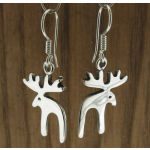 Reindeer Silver Earrings