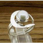 Framed Pearl Handmade Silver Ring