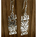 Rectangular Tree of Life Handmade Silver Earrings