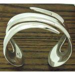 Jagged Silver Cuff Bracelet
