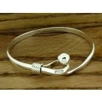 Sphere Loop Silver Bangle