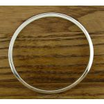 Square Edged Polished Silver Bangle