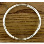 Toricos Hammered Silver Bangle