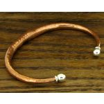 Copper Embossed with Silver Torque Bracelet
