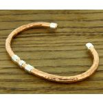 Distintas Copper and Silver Torque Bracelet