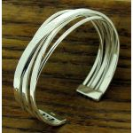 Destino Hammered Cuff Silver Bracelet