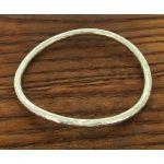 hammered curve silver bangle