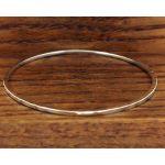 Squared Hammered Silver Bracelet