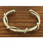 Hammered Cuff with Twisting Strands Silver Bracelet