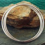 Polished 3-in-1 Silver Bangle