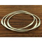 Polished Curved 3-in-1 Silver Bangle
