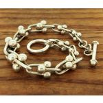 Trio Varied Sphere Chain Bracelet