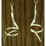 Corkscrew Sterling Silver Earrings