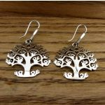 Orb tree of life silver earrings
