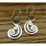Aztec Curl Silver Earrings