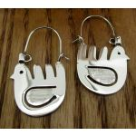 Mexican Bird Silver Earrings