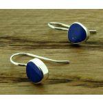 Lapis Lazuli Drop Silver Earrings
