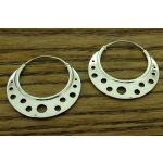 Circle Hoop Silver Earrings