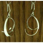Sweeping Swirls Silver Earrings