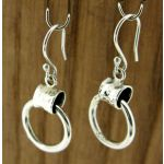 Buckled Loop Silver Earrings