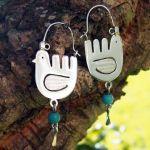 Mexican Sterling Silver Bird Earrings