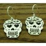 Day of the Dead Candy Skulls with Herats Earrings