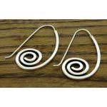 Spiral Hook Silver Earrings