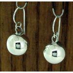 Polished 12mm Ball Drop Silver Earrings