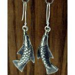Chang Mai Fish Silver Earrings