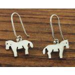 Horse Silver Earrings