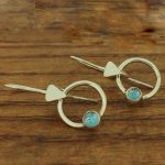 Handmade Silver Topaz Earrings