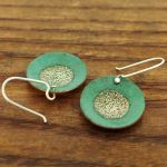 Patina Silver Circle Earrings