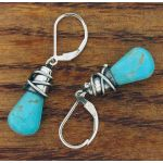 Turquoise Alambres Silver Earrings