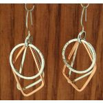 Copper & Silver Geometric Earrings
