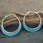 Patina Sterling Silver Hoops