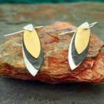 Three Leaves Silver Earrings