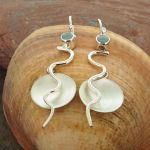 Chalcedony Flame Silver Earrings