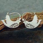 Handmade Silver Bird Earrings