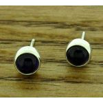 Amethyst 6mm Silver Stud Earrings