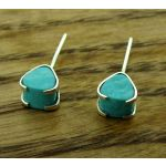 Turquoise Coraon Silver Stud Earrings