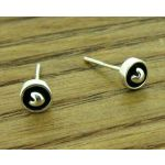 Mini Oxidised Heart Silver Stud Earrings