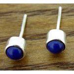 Lapis Lazuli 4mm Silver Stud Earrrings