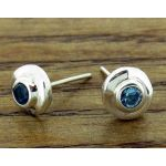 Blue Topaz Silver Stud Earrings